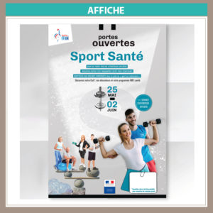 affiche Sport Sante Portes ouvertes FFHM
