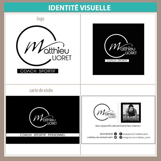 Logo carte de visite Matthieu Lioret Coach sportif