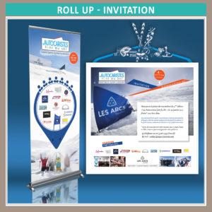 """Création Invitation, Roll-up et livret 40 pages pour l'événement """"Les autocaristes font du ski"""" 4e édition en Janvier 2020"""