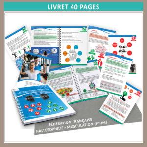 """Conception graphique  du livret """"prévention dopage"""" (AVRIL 2020) pour la Fédération Française Haltérophilie-Musculation"""